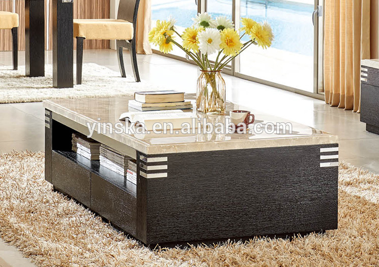 Modern Living Room Nature Marble Travertine Top Coffee Table Center Table