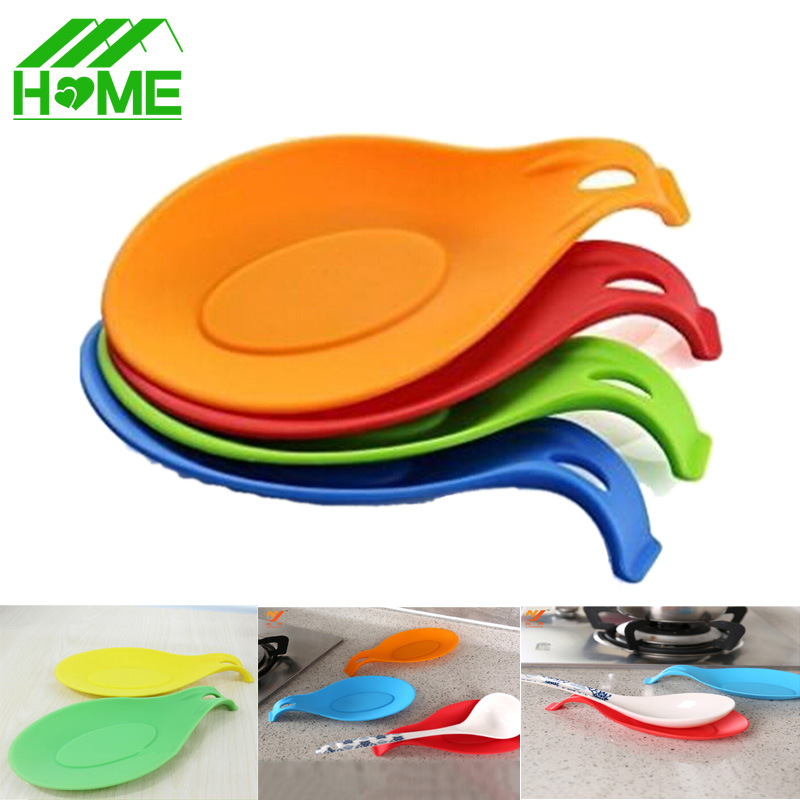 Silicone Spoon Insulation dinner table placemats mat pad Non-slip Heat Resistant kitchen Cup Coaster Tray bbq grill baking mats