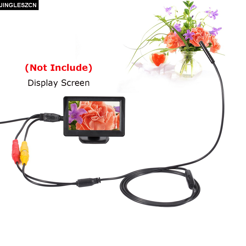 JINGLESZCN AV Endoscope 12V 10mm Dia 5m 10m 15m 20m Mini Camera NO Screen Waterproof IP66 Snake Inspection Borescope Pipe Cam
