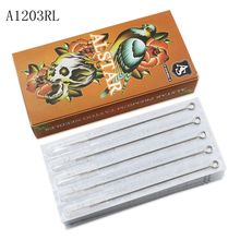 0.35MM Disposable 316L medical stainless steel Tattoo Needle Medical For Tattoo Machines Gun Liner Shader 1203RL medical monitor stand stainless steel medical trolley