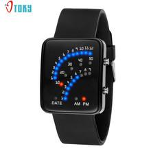 Fashion Young Sport Lovers Clocks Women Mens Smart Watches Futuristic Style LED Light Sport Wrist Watch Creative Apr14