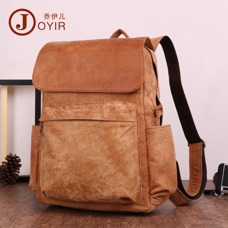 Joyir Cowhide Men Backpack Genuine Leather Vintage Daypack Travel Casual multi-function Male Laptop Bags College Rucksack design male leather casual fashion heavy duty travel school university college laptop bag backpack knapsack daypack men 1170g