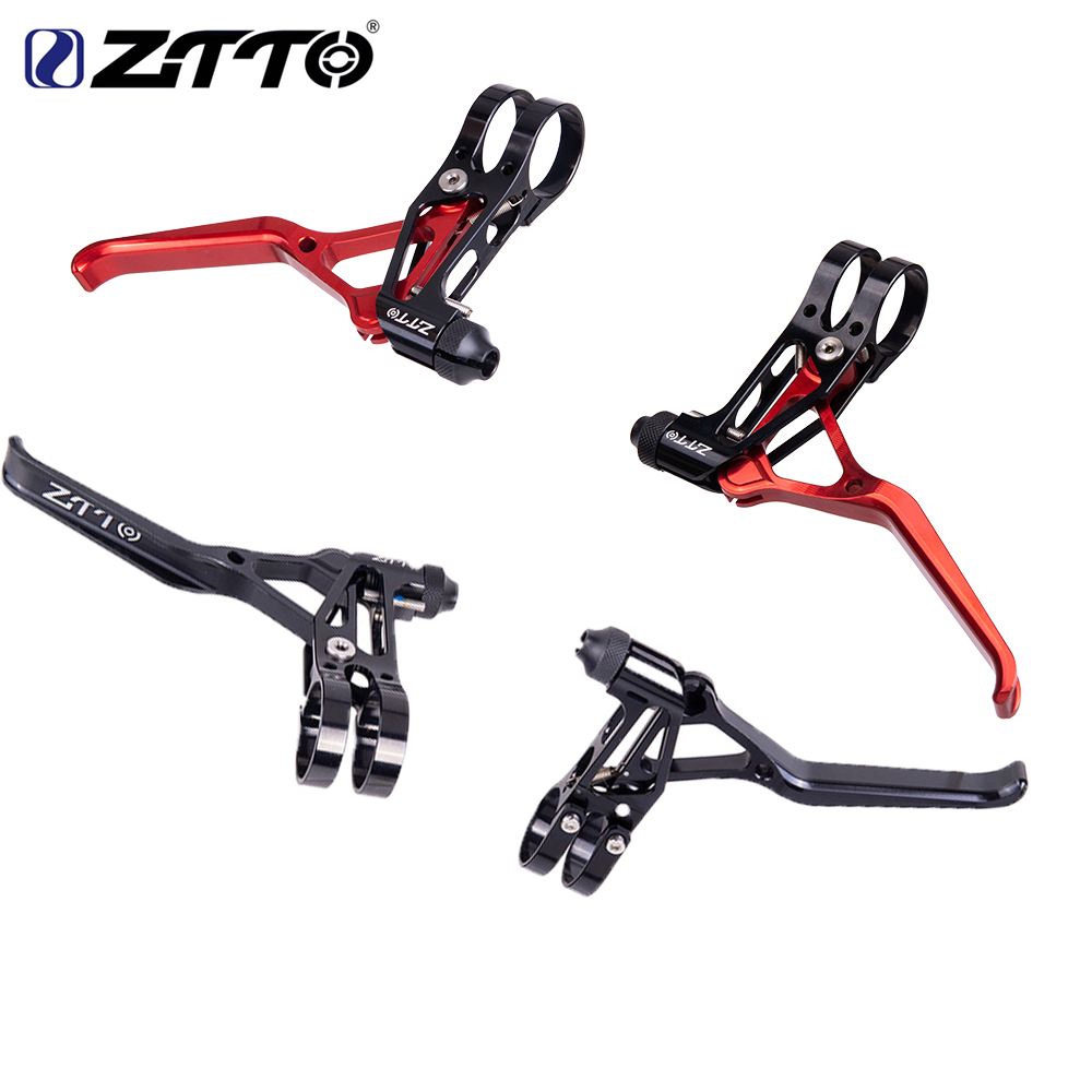 ZTTO 1 Pair Aluminum Bicycle Brakes V Levers Brake Capliers Handle Mountain 2finger MTB Bike BMX V Brake 4 Colors Cycling