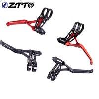 ZTTO 1 Pair Aluminum Bicycle Brakes V Levers Brake Capliers Handle Mountain 2finger MTB Bike BMX V Brake 4 Colors Cycling
