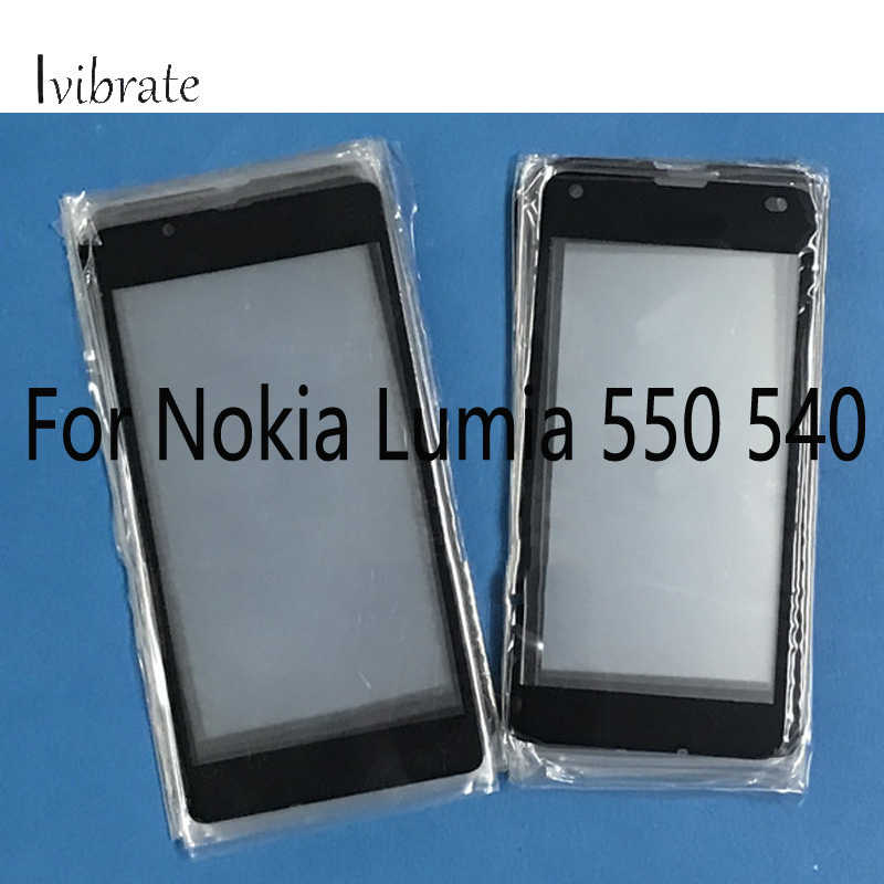 A+Quality For <font><b>Microsoft</b></font> Nokia <font><b>Lumia</b></font> <font><b>540</b></font> 550 TouchScreen Digitizer Touch <font><b>Screen</b></font> Glass panel Without Flex Cable <font><b>Replacement</b></font> image