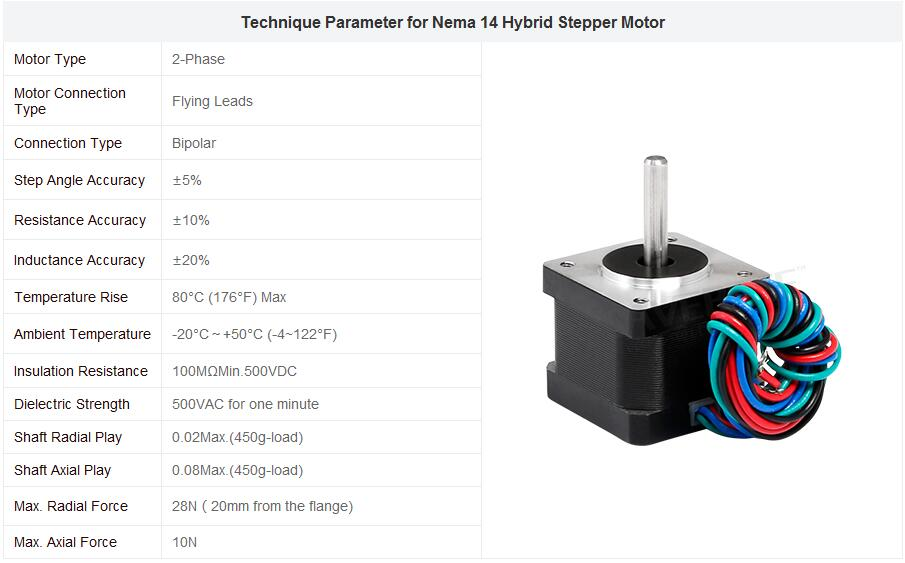 HTB1qigMaCtYBeNjSspaq6yOOFXae - ENGMATE Nema 14 Stepper Motor 21Oz-In 2-Phase 0.8A EMA142-3008S4 for CNC Mill Router Cutter