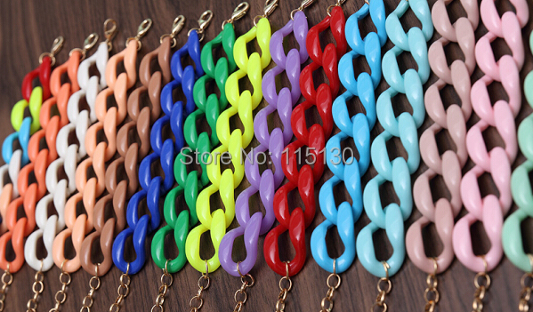 Fishsheep New Fashion Acrylic Chain Link Bracelet For Women Men Bohemian Colorful Cuff Wristband Bracelets & Bangles Jewelry 5