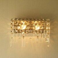 Modern Crystal Metal Wall Sconce Home Decor Europe Style Indoor Wall Lamp Bathroom Fixture Vanity Bedroom Dedside Lighting WL254