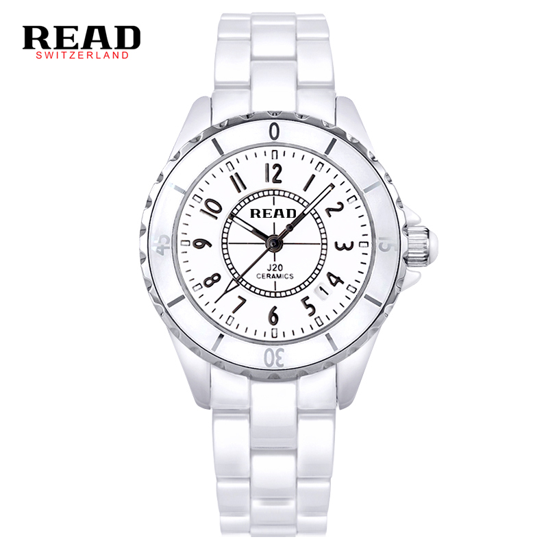 READ Brand Watch Women Luxury Fashion Casual Quartz Ceramic Watch Lady Relojes Mujer Women Wristwatches Dress Relogio Feminino подвесная люстра mw light замок 249011205