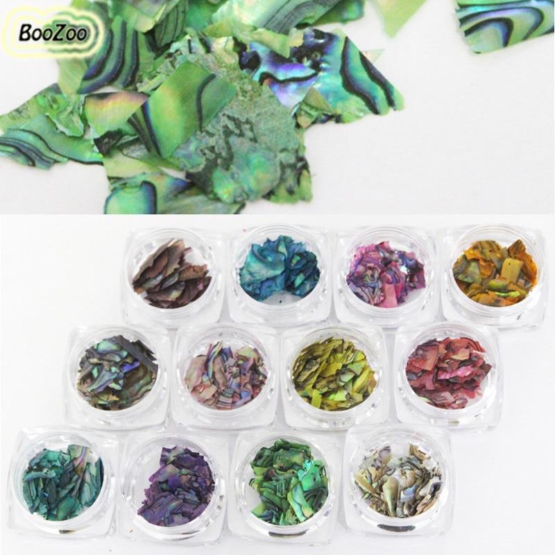 BlueZoo 12 Box Beautiful Import Abalone Shell Piece 3D Charm