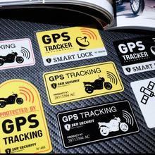 Предупреждающая этикетка, gps система слежения, стикер, противоугонная отражательная Виниловая наклейка для автомобиля, motocrclye, велосипедная наклейка