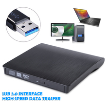 USB 3.0 DVD RW CD Writer External Drive Burner Reader Player Portable ODD Caddy For Windows Vista/7/ 8.1/10 Linux Mac OS