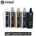 Original 80 w joyetech cuboid mini kit con 2400 mah cuboid mini cuboide batería mod y 5 ml mini atomizador cigarrillo electrónico