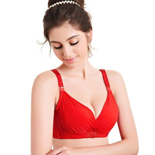 68b9d849334f9 Full Cup Maternity Breastfeeding Bra Chiffon Wire Free Elasticity Pregnancy  Nursing Bra Feeding Lactancia Soft Voedingsbeha