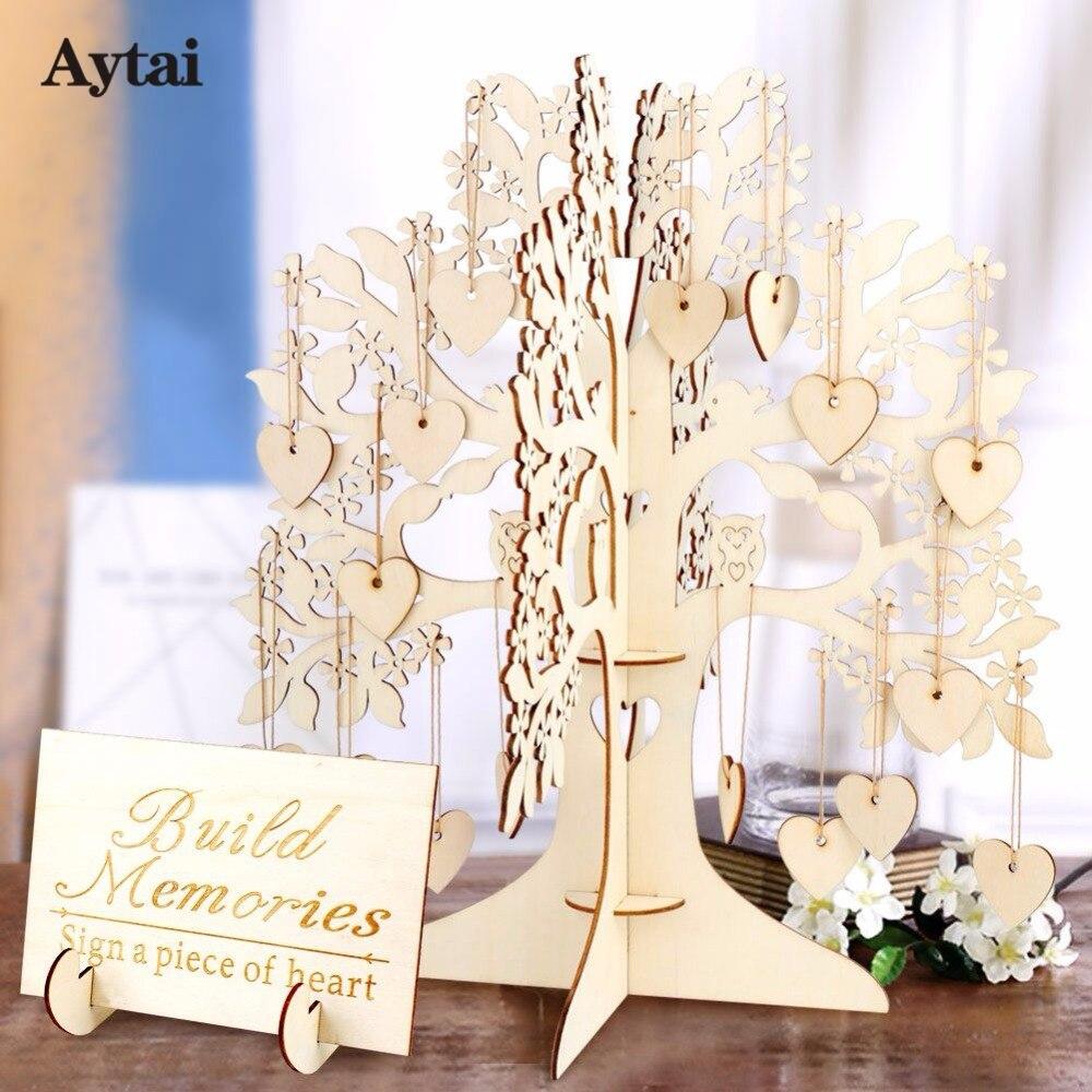 Aytai 3set 3D DIY Wedding Guest Book Tree Baby Shower Graduation ...