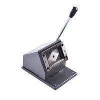 1 unid fábrica personalizada pesado troqueladora para Cúter tarjetas de pvc tarjeta de papel cortador troqueladora foto 86 * 54mm redondeado Corne