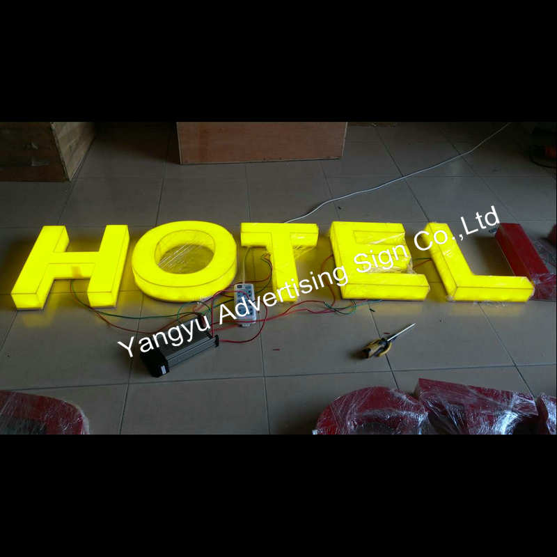 Acrylic led vintage sign letters acrylic sign board designs for hotel