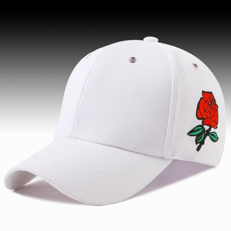 Men  Women Summer Breathing Hole Rose Embroidered Baseball Cap Snapback Hats  2018 Outdoor Leisure Adjustable Visor High Quality -in Baseball Caps from  Men s ... f1e2cc0bb464