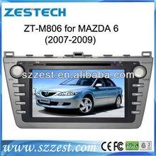 ZESTECH Double din car dvd player for MAZDA 6 dvd GPS with arabian,Portugal,russian osd menu