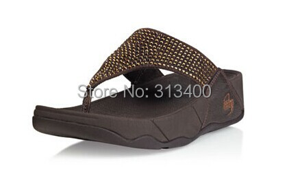 78c285d04 Free shipping brand woman flipflop shoes(FF)summer paltform sandals crystal  fiting flare rok floping sandals