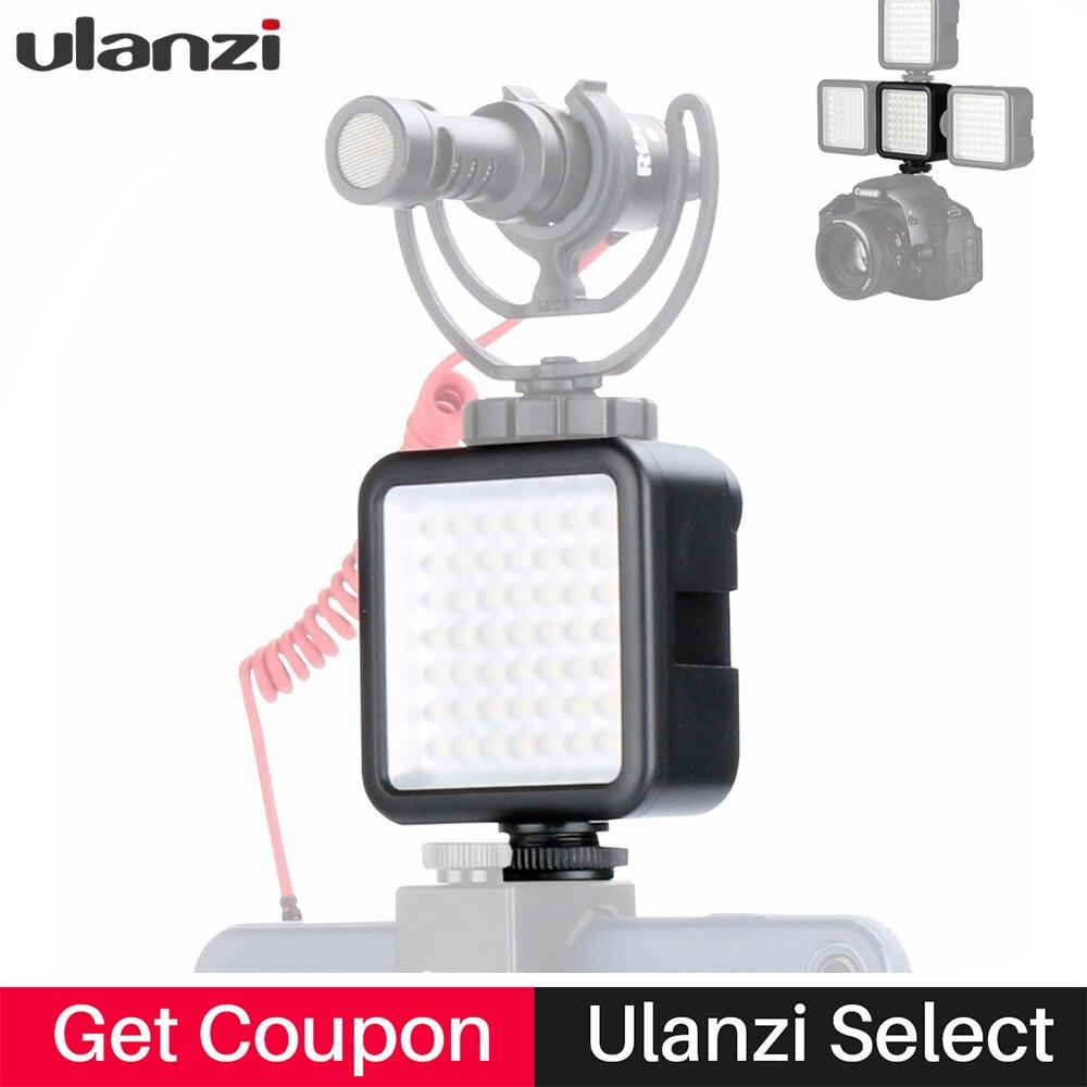 Bolsillo Mini cámara de Video LED luz Luz de relleno w 3 Zapata de montaje de Osmo bolsillo Nikon Canon DSLR zhiyun liso 4