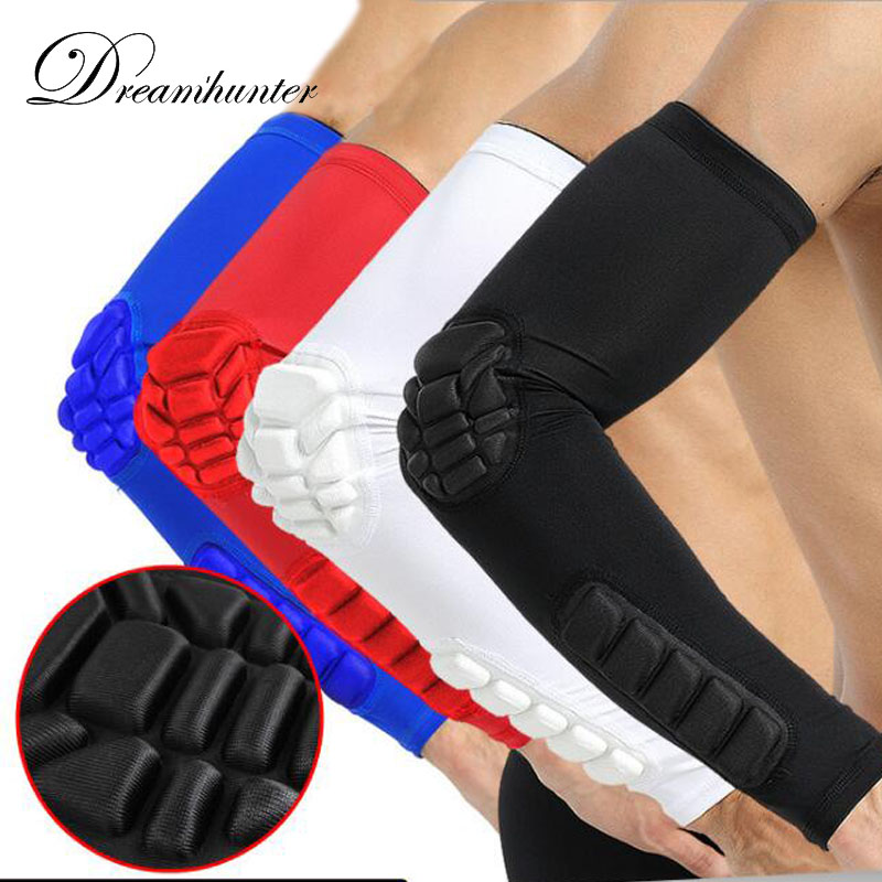 1 pcs Basketball arm Sleeve pad extended breathable Crashproof gear elbow support wrist cuffs outdoor unisex Compression Sleeve