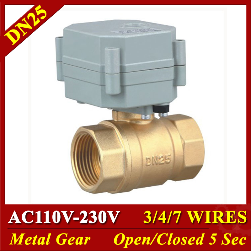 Two Way Brass 1//4 Inch AC110-230V Motorized Ball Valve,with Position Indicator,CR704