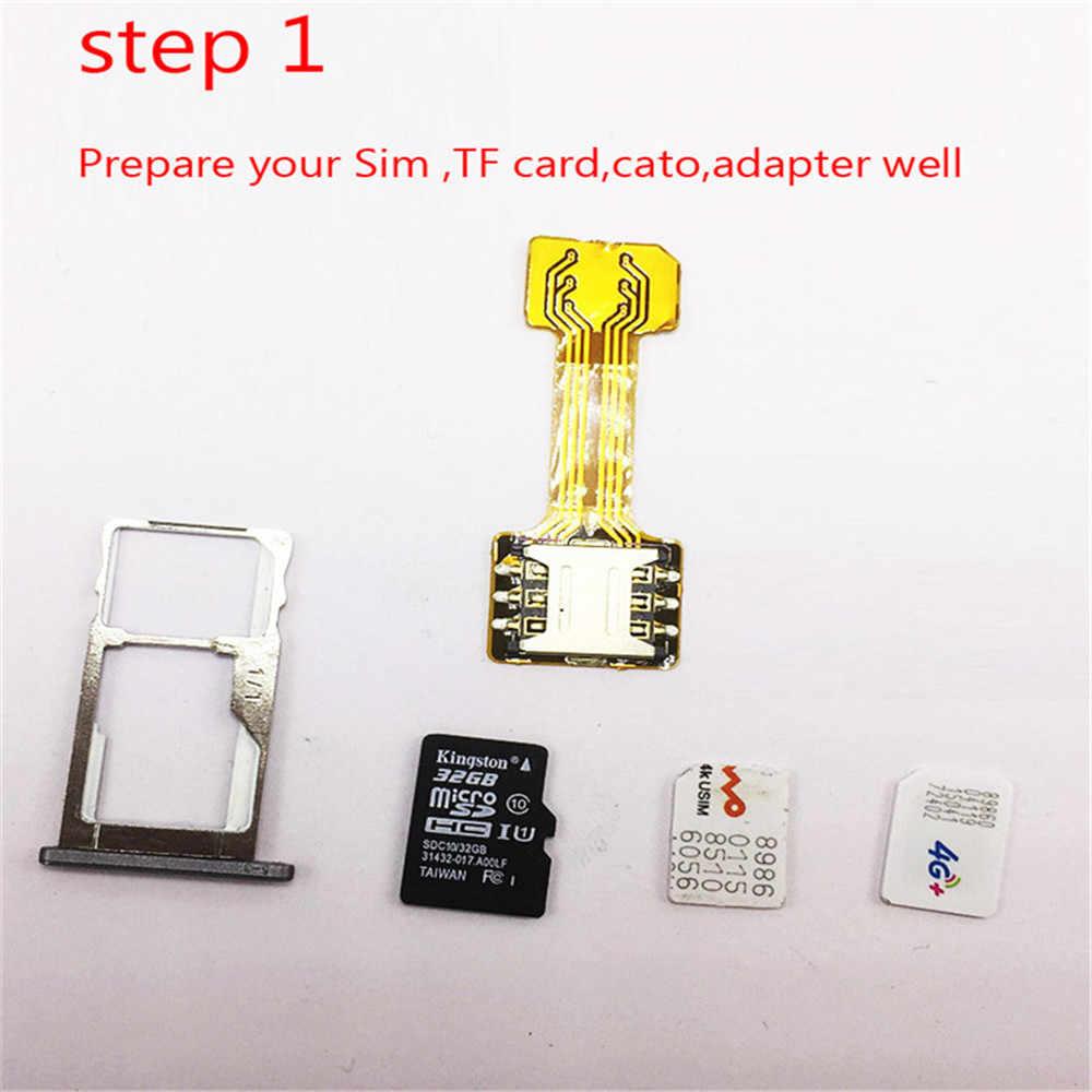 ハイブリッドデュアル SIM カードマイクロ SD TF アダプタ xiaomi Redmi サムスン Huawei 社ダブル 2 ナノミニマイクロ SIM スロットワイヤレスアダプタ