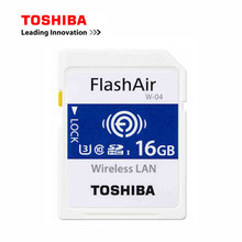 TOSHIBA WI-FI Memory Card 16G 32G 64G W-04 WIFI SD Card FlashAir Class10 Flash Camera Card WIFI download photo video to phone(China)