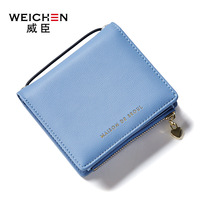 WEICHEN Brand Fresh Lady Short Women Wallet Original Mini Purse With Coin Pocket Multi Card Slots