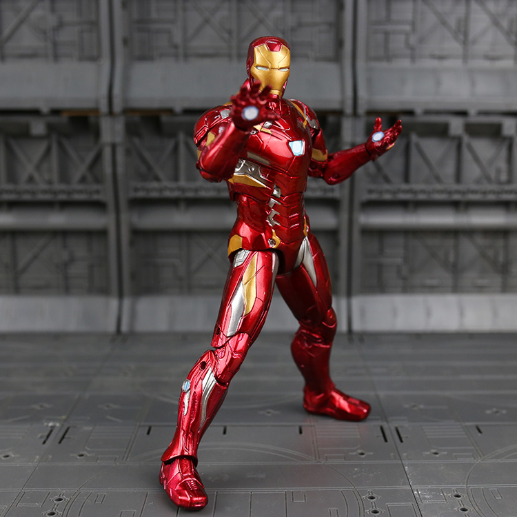 17cm/6.5in Iron Man Action Figure Captain America Civil War Tony Stark Model Superhero Avengers IronMan Figurine Free shipping power man and iron fist volume 2 civil war ii