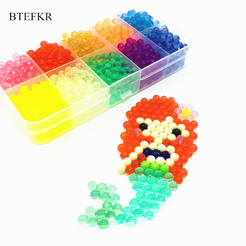 15 Colors 100PCS/Bag Crystal Beads Toys For Children  Educational Toys Water Sticky Beads Puzzle 3D Juegos Didacticos Infantiles