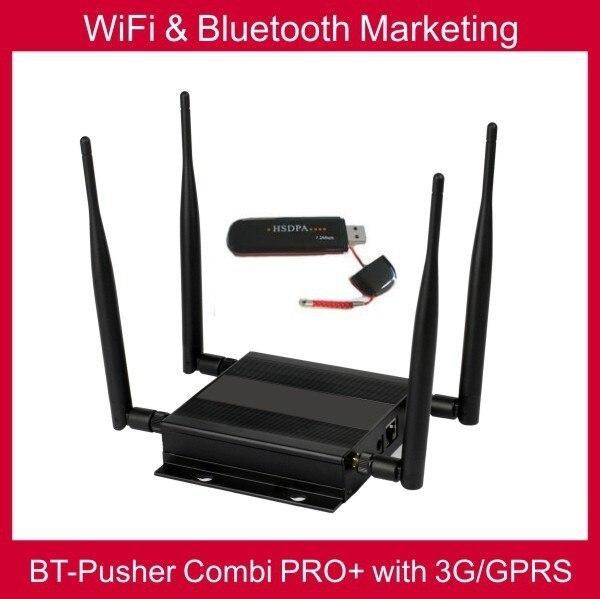 Wi-fi и Bluetooth мобильные маркетинг Близость COMBI PRO + с 3 Г/GPRS, автомобильное зарядное устройство, аккумулятор (родной рекламного содержания системы)