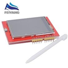 10 adet LCD modülü TFT 2.4 inç TFT LCD ekran UNO R3 kurulu ve destek mega 2560 gif dokunmatik kalem