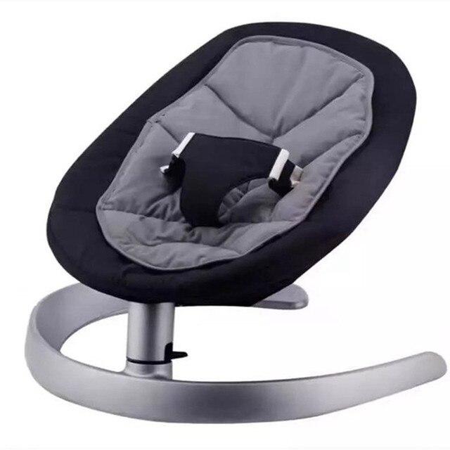 Cadeira de balanço do bebê berço do bebê da liga de alumínio base de urso 60 KG chaise lounge cadeira berço para recém-nascidos