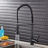 Pull Down Sprayer Black Brass Water Kitchen Faucet Swivel Vessel Sink Mixer Tap Cozinha ORB Kitchen