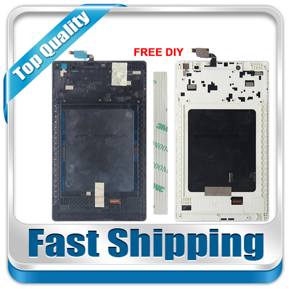 Galleria fotografica New For Lenovo Tab 2 A8-50 A8-50F A8-50LC Replacement LCD Display +Touch Screen with Frame Assembly 8-inch Black White
