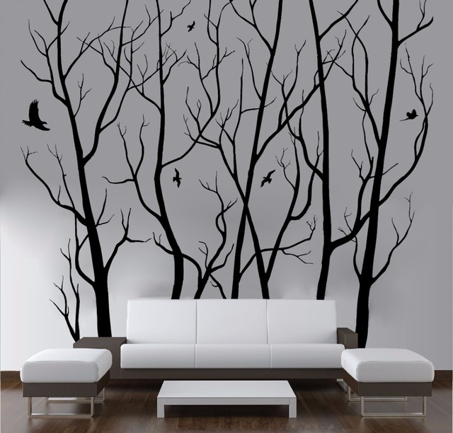 Aliexpress.com : Buy D446 Large Wall Art Decor Vinyl Tree Forest ...