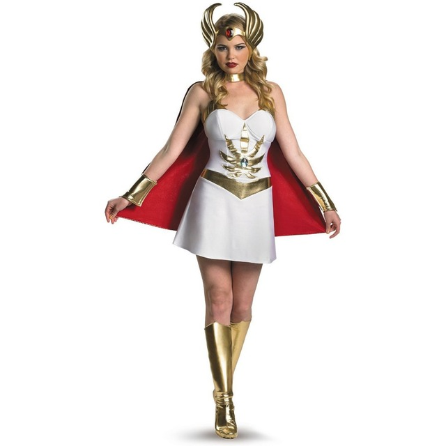 Free Shipping She Ra Deluxe Costume Small 80 S Film Cartoon He Man