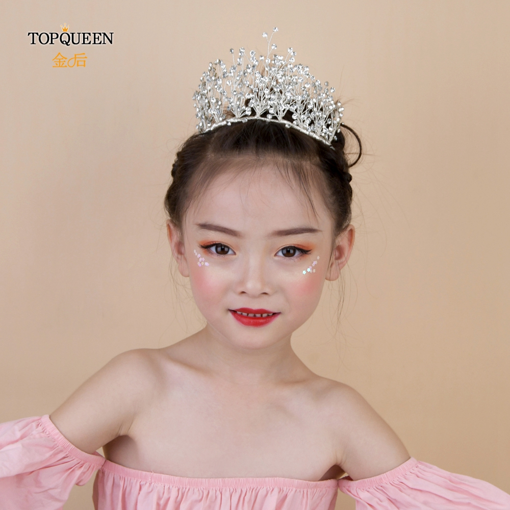TOPQUEEN HP193-S princess crown for kids small girls pageant hair accessories