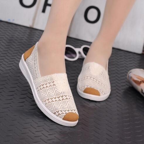 2018 Cheap price Women Flats Comfortable Women Casual Shoes Round Toe Moccasins Loafers Breathable Driving Ladies Shoes