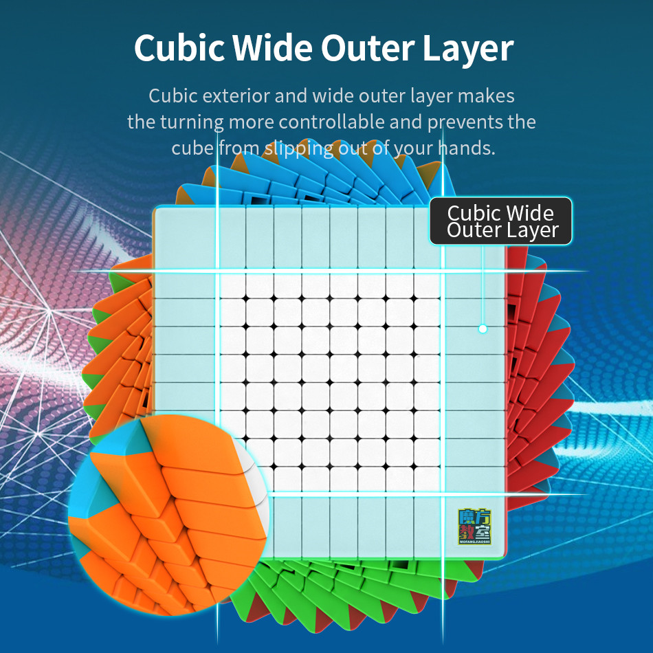Moyu 10x10 CUBE Moyu Meilong 10x10x10 Cube magique 10 couches vitesse Cube professionnel Puzzle jouets pour enfants enfants cadeau jouet - 5