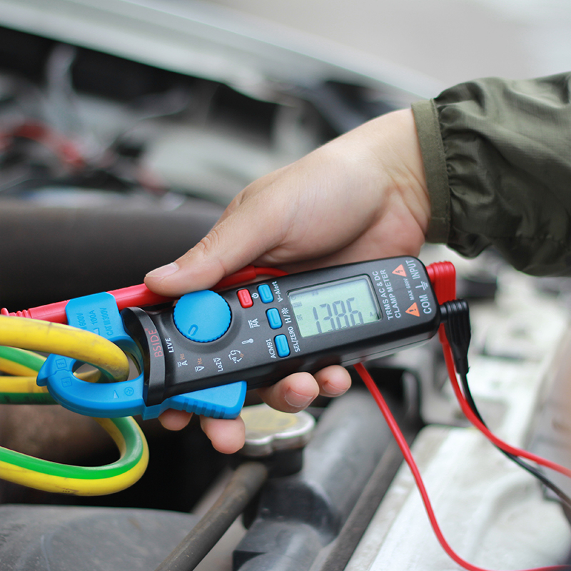 Bside ACM91 карман клещи TrueRMS 6000 Counts AC/постоянного тока 1mA разрешение емкость температура тестер с задней клип