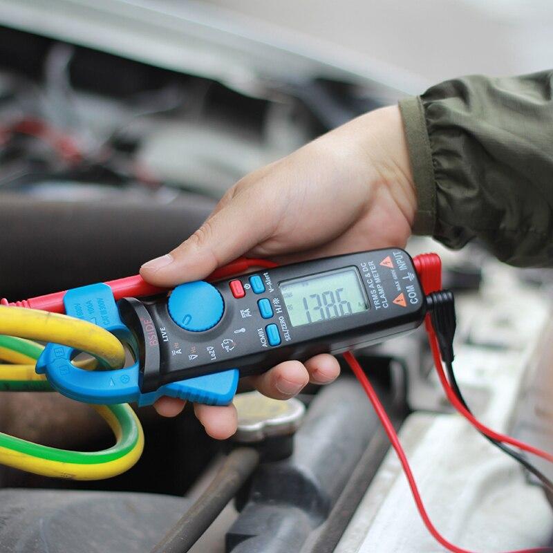 Bside ACM91 Tasche Clamp Meter TrueRMS 6000 Zählt AC/DC Strom 1mA Auflösung Kapazität Temperatur Tester mit Zurück Clip