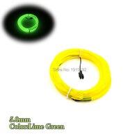 AC100-220V 5.0mm 15 M EL tel halat tüp Evi Parti Festivali süslemeleri esnek neon parlayan LED işık 10 Renk seçilen