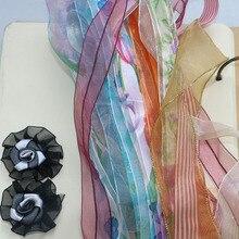 Random 20yard New Eugene Gauze Ribbon Christmas Gift Handmade DIY Snow Wedding Birthday Party Decorations