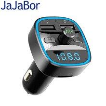 JaJaBor автомобильный FM передатчик Bluetooth комплект MP3 аудио плеер Bluetooth 5,0 Громкая связь Quick Charge Напряжение обнаружения