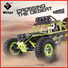 High Quality WLtoys 12428 2.4G 1/12 4WD Crawler RC Car 1:12 Electric four-wheel drive Climbing RC Car With LED Light RTR 2017 rovan 1 5 baja lt 4wd rc car 29cc engine four bolt fixed 2t gasoline four wheel drive powerful than losi 5ive t
