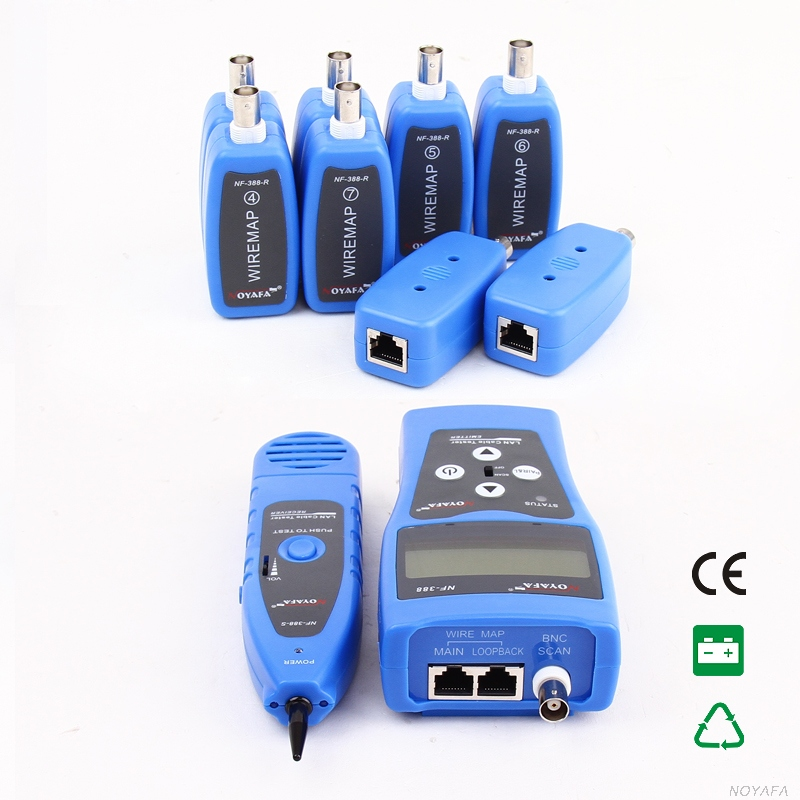 Free Shipping!! NOYAFA NF-388 Multipurpose Network Cable Inspection Telephone Wire Coaxial Cable Tester 5E 6E network wire tracker nf 806b handy support trace telephone wire lan cable free shipping not include battery