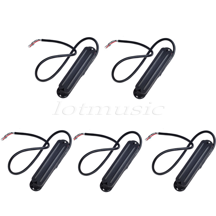 5Pcs Black Belcat Alnico V Hot Rail Blade Pickup For Strat Guitar Replacement belcat vintage single coil pickup for electric guitar parts accessories alnico 5 neck middle bridge set black white